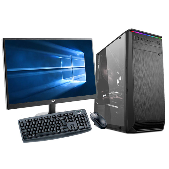 "Core i3 9100F | GTX 1650 4GB | 24"" Monitor Gaming Desktop PC Bundle"