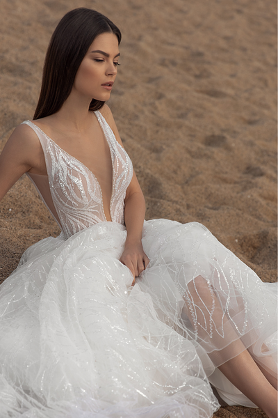 A Line Wedding Dress Lace