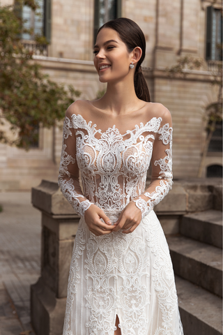 Longsleeve Off Shoulder Wedding Dress