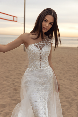 One Arm Wedding Dress