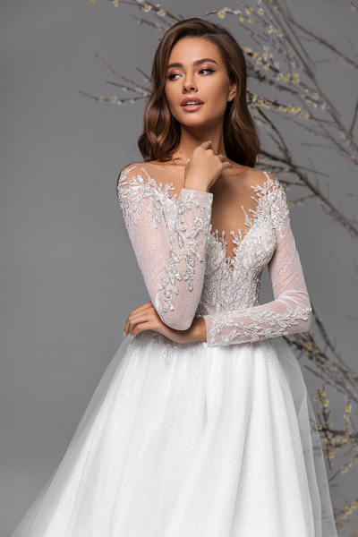 Longsleeve Trumpet wedding dress Lace