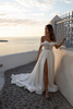 Off Shoulder Duchess Satin Wedding Dress