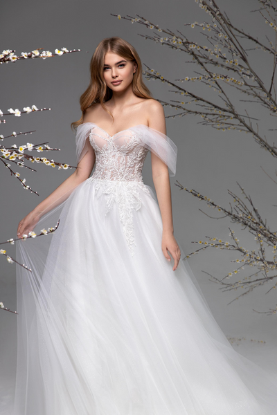 Coquette A Line Wedding Dress