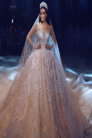 Luxury Haute Couture Ball Gown with Beaded Lace