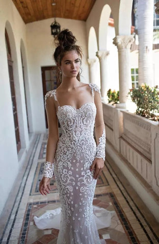 Long sleeve Mermaid Gown