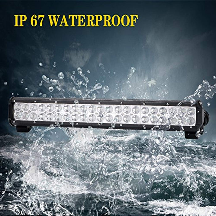 UNI FILTER DOT Approved 20Inch LED Light Bar 126W Off Road Driving ...