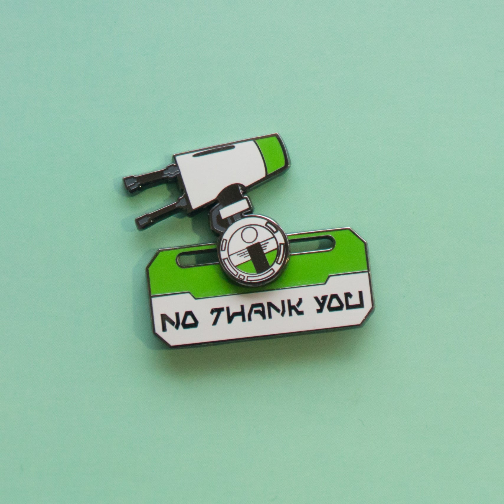 NO THANK YOU PIN