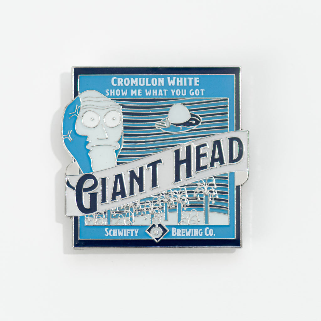 GIANT HEAD BEER PIN
