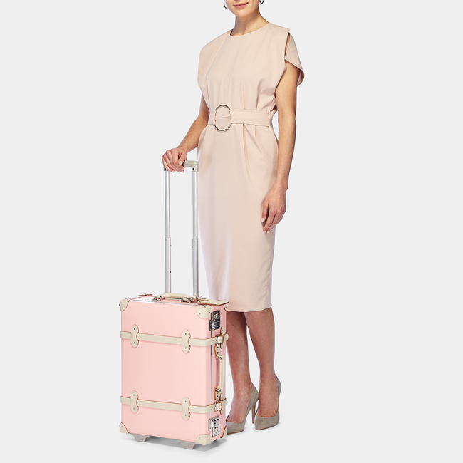 The Botanist Carryon in Pink - Vintage-Inspired Carry On Case - Exterior