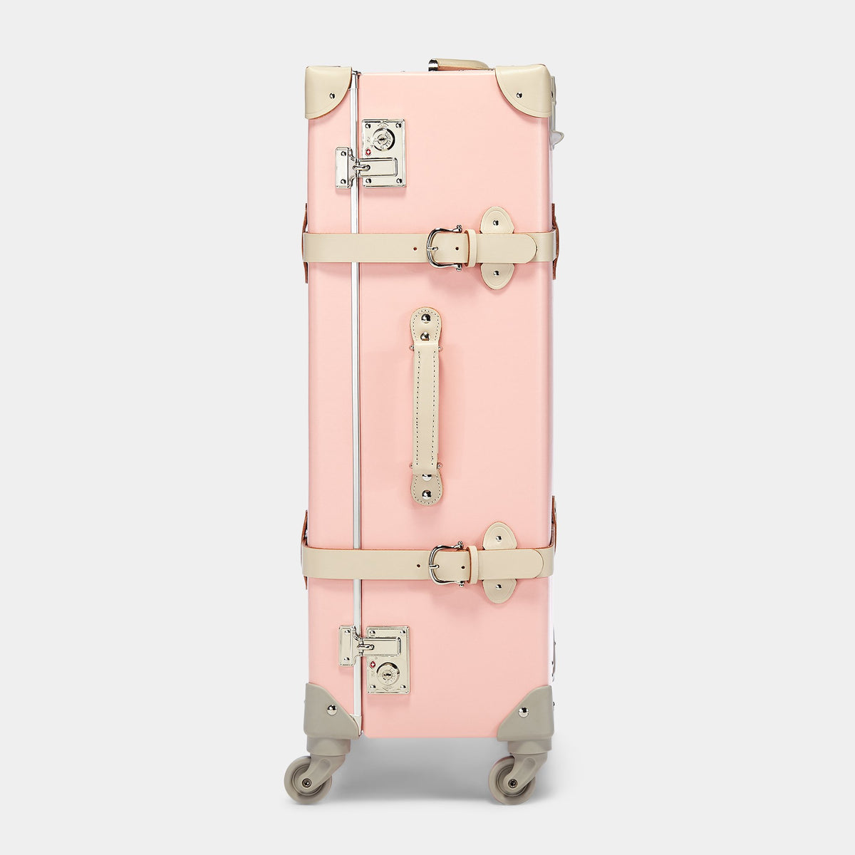 The Botanist Spinner in Pink - Vintage-Inspired Suitcase - Exterior Side view