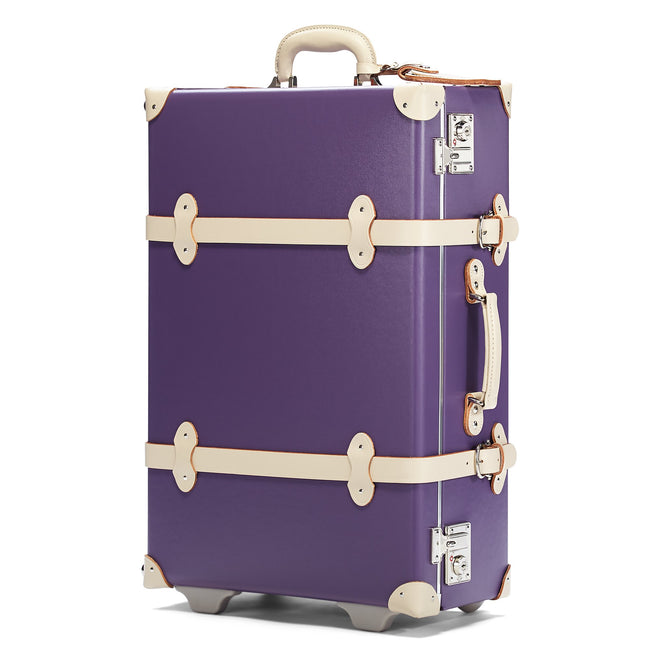 The Botanist Stowaway in Purple - Vintage-Inspired Suitcase - Exterior