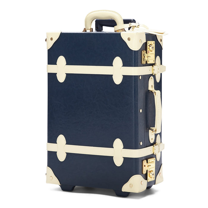 The Entrepreneur Carryon in Navy - Vintage-Inspired Luggage - Exterior Front