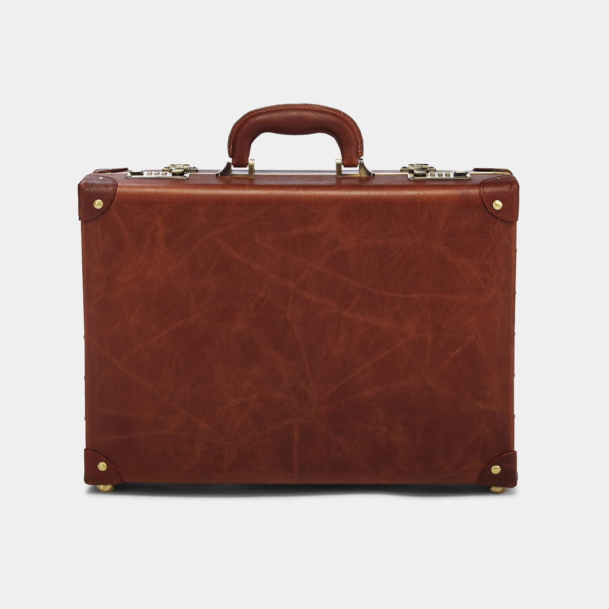 The Pioneer Executive Briefcase - Vintage-Style Leather Briefcase - Exterior