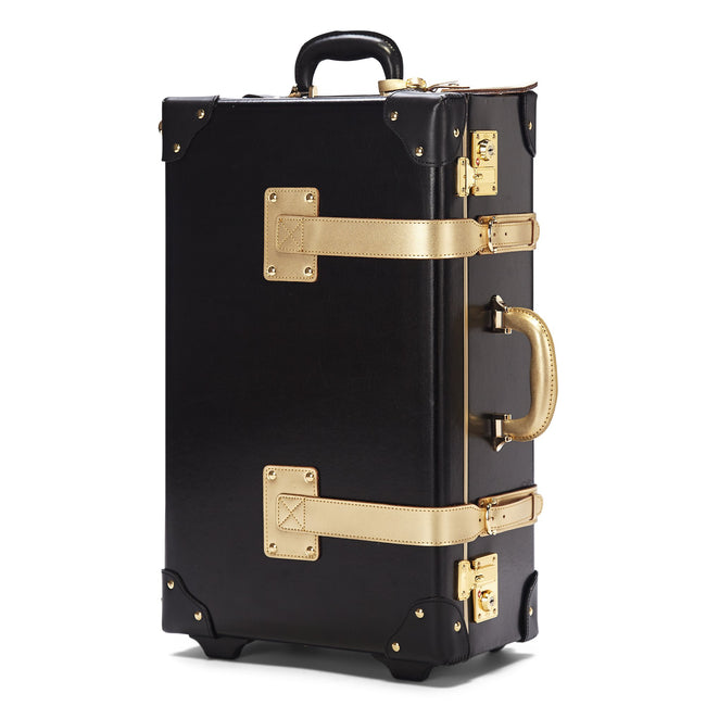 The Soprano Stowaway in Black - Vintage Style Leather Case - Exterior Front