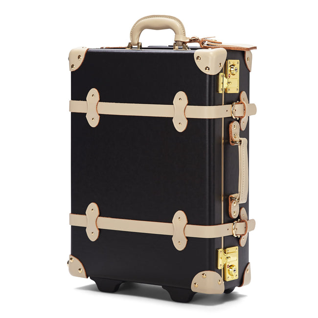 The Starlet Carryon in Black - Vintage Style Leather Case - Exterior Front