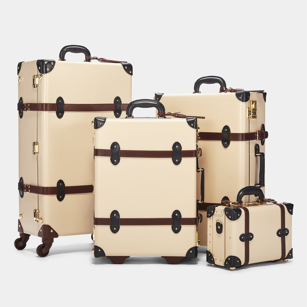 The Architect Carryon in Cream - Vintage Style Leather Case - Alongside matching cases from The Architect Cream collection