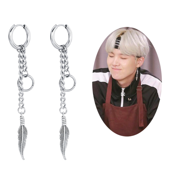 Feather Earrings - BTS Merch & Kpop Merch