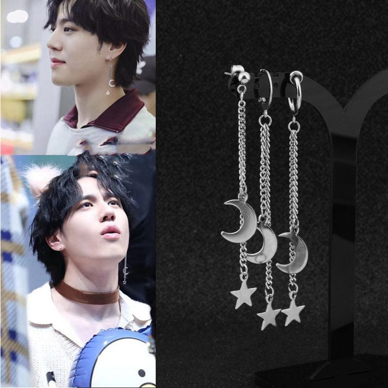 BTS Moon Star Earrings - BTS Merch & Kpop Merch