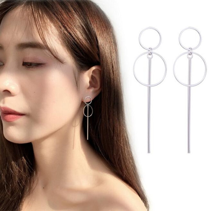 BTS Double Circle Earrings - BTS Merch & Kpop Merch
