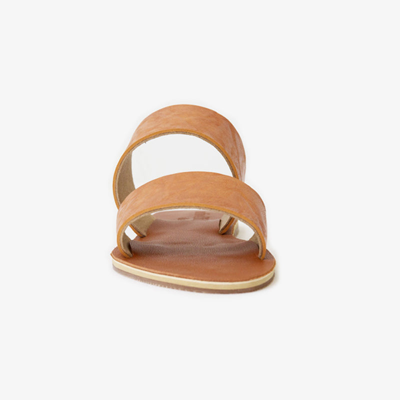 Bodhi Slide in tan vegan leather