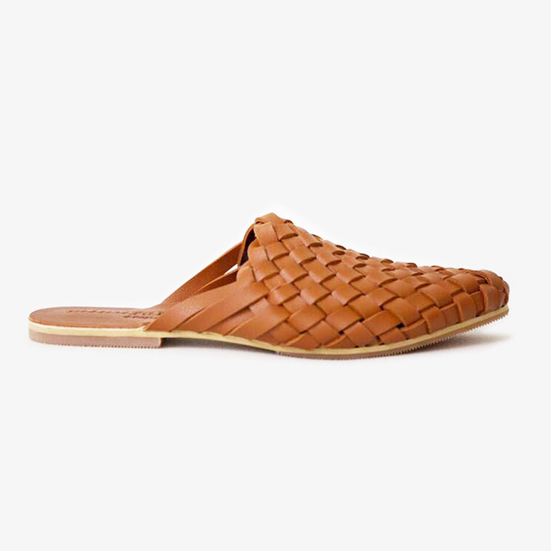 Kynd Slide in Tan Vegan Leather