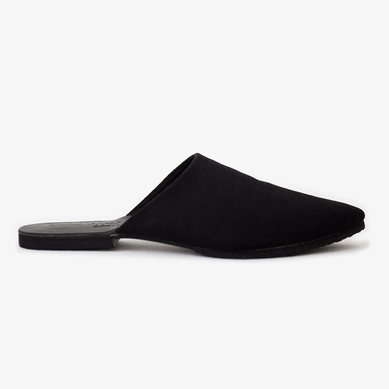Peloton Slide in Black Vegan Suede
