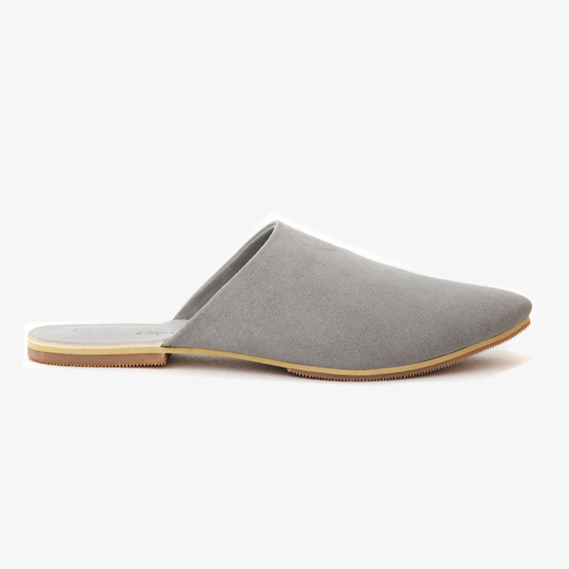 Peloton Slide in Grey Vegan Suede