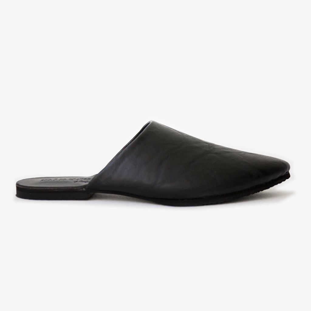 Peloton Slide in Textured Black Vegan Leather