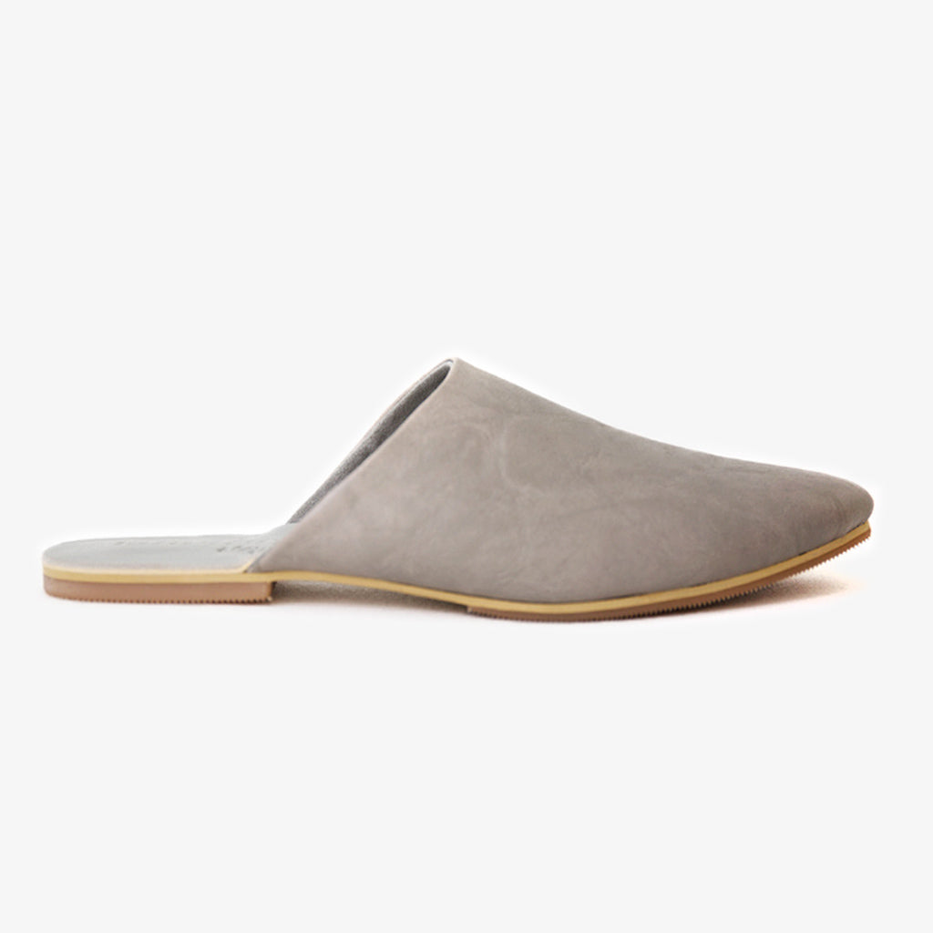 Peloton Slide in Textured Grey Vegan Leather