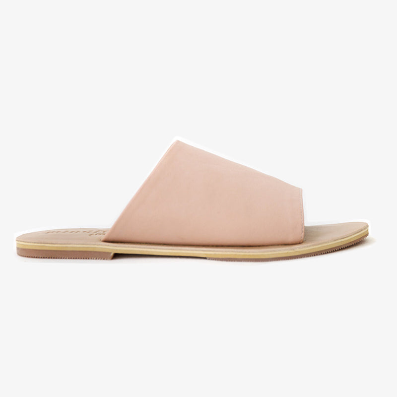 Sage Slide in Blush Vegan Leather