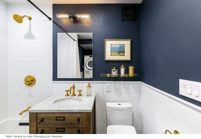 A bathroom gets a design and square footage overhaul