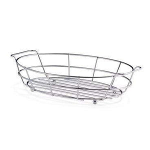 Buy oval metal wire bread box fruit basket for baguette sourdough food pantry basket kitchen storage and counter display restaurant quality metal basket with linen material insert