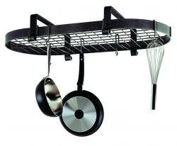 Enclume Premier Low Ceiling Oval Pot Rack, Stainless Steel