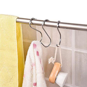 Top rated 30 pack heavy duty s shaped hooks rustproof sliver finish steel hooks hangers for kitchenware pots utensils clothes bags towels plants