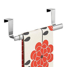 Amazon best binovery adjustable expandable kitchen over cabinet towel bar hang on inside or outside of doors storage for hand dish tea towels 9 25 to 17 wide 2 pack brushed stainless steel