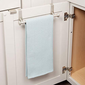 Storage interdesign york over the cabinet kitchen dish towel bar holder satin