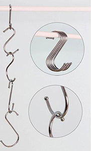 Amazon lysas 20 pack round s shaped hooks hangers for kitchen bathroom bedroom and office