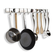 Selection wallniture kitchen bar rail pot pan lid rack organizer chrome 30 inch set of 2