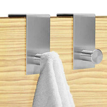 Great over the door hooks hanger towel rack 18 8 stainless steel multiple use z shaped hanging over door hooks use for kitchen bathroom bedroom office cabinet door storage organizer 2 pack