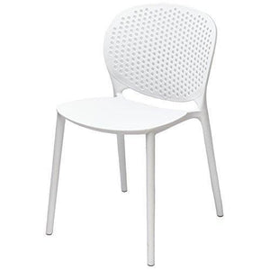 Top 2xhome white contemporary modern stackable assembled plastic chair molded with back armless side matte for dining room living designer outdoor lightweight garden patio balcony work office desk kitchen
