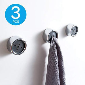 Home kaiying kitchen towel hooks strong self adhesive hook wall cabinet sticker round cloth tea towel holder grabber clasp chrome plated pf0113 pcs