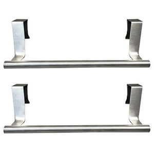 Cheap evelots towel bars kitchen bathroom in or out cabinet door stainless set of 2