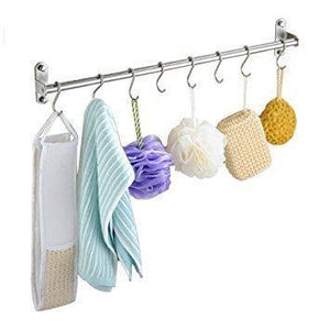 Amazon unitendo multifunction towel rack hanger hanging rack pan pot rack kitchen utensils organizer racks for kitchen and bathroom accessories in 31 stainless steel with 15 hooks