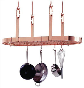 Enclume 4-Point Oval Ceiling Rack, Copper