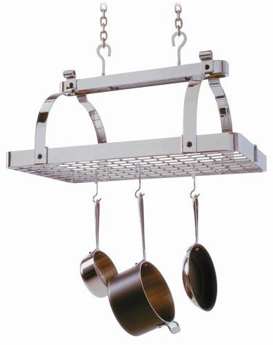 Enclume PR1nbwg-CH Classic Rectangle No Center Bar with Grid Premier Ceiling Rack, Chrome