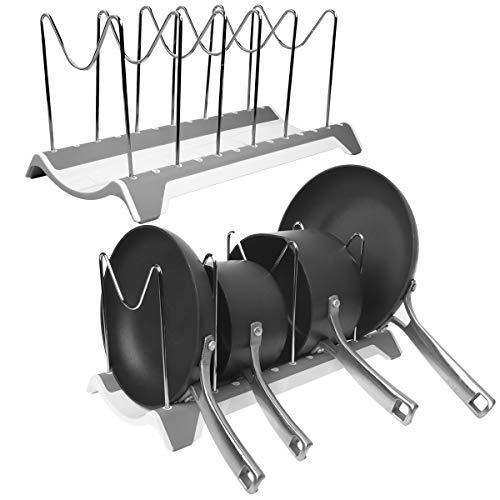 Domajax Dish Drying Rack, Pot Rack, Pots Drying Rack, Pot Lid Organizer For Kitchen, Counter, Sink, Cabinet