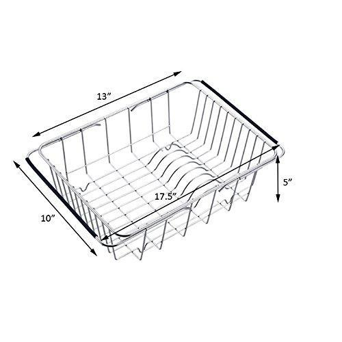 Heavy duty kitchen sink 304 stainless steel drain basket wash fruit basket drain basket vegetables drainage sieve