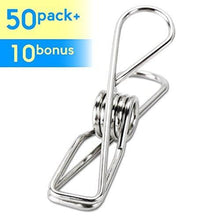 Selection itowe clothespin 2 2 pin 60 pack stainless steel wire clip durable metal pin for clothesline utility pin for laundry kitchen backyard outdoor clothes drying bag sealing room decorating office pin
