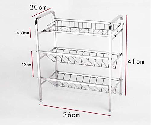 The best spice rack organizer fresh household 3 tier spice jars bottle stand holder stainless steel kitchen organizer storage kitchen shelves rack silver