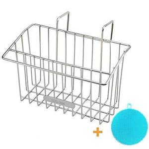 New chilholyd sponge holder sink caddy sink organizer caddy kitchen brush soap stainless steel hanging drain basket for soap brush dishwashing liquid sink organizer drainer rack